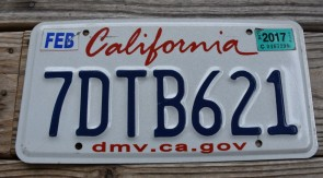 California Lipstick License Plate 2017 DMV