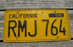 California Lipstick License Plate 2000