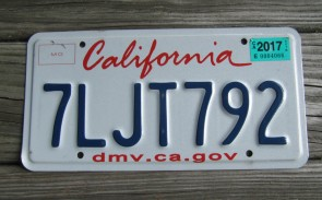 California Lipstick License Plate 2017 DMV