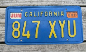 California Lipstick License Plate 2016