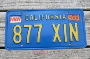 California Lipstick License Plate 2014