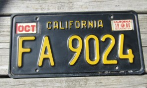 California Lipstick License Plate 2014 DMV