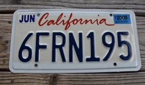 California Lipstick License Plate 2009