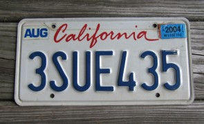 California Lipstick License Plate 2016 DMV