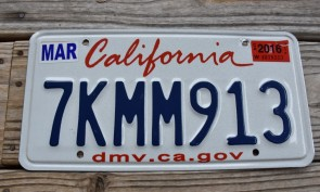 California Lipstick License Plate 2016 DMV