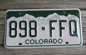 Colorado Mountain Scene License Plate