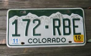 Colorado Mountain Scene License Plate 2010