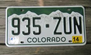 Colorado Mountain Scene License Plate 2014