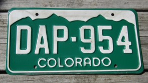 Colorado Motorcycle Mountains License Plate 2008
