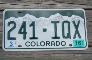 Colorado Mountain Scene License Plate 2016
