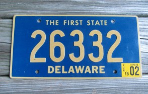 Delaware The First State License Plate 2006