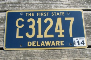 Delaware The First State License Plate 2010
