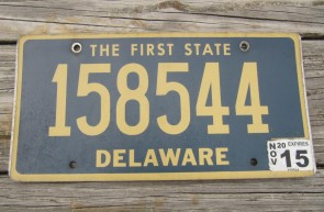 Delaware The First State License Plate 2015