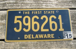 Delaware The First State License Plate 1987