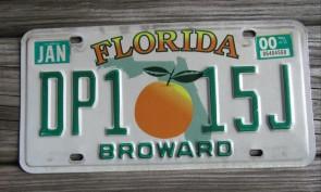 Florida Big Orange License Plate 2000