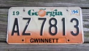 Georgia Peach State License Plate 2014