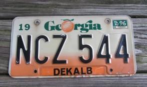 Georgia Peach State License Plate 2016