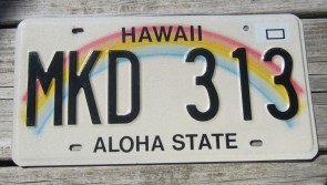HawaII Rainbow Aloha State License Plate 2016 LED 628