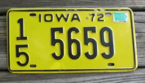 Iowa Farm Scene License Plate Pottawattamie County 2006 281 RBP