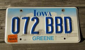 Iowa Farm Scene License Plate Pottawattamie County 2006 380 ROC