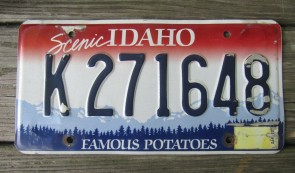 Idaho Scenic Famous Potatoes License Plate