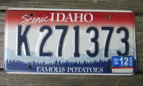 Idaho Scenic Famous Potatoes License Plate 2004