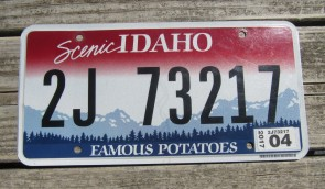 Idaho Scenic Famous Potatoes License Plate 2005