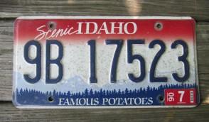 Idaho Scenic Famous Potatoes License Plate 2006