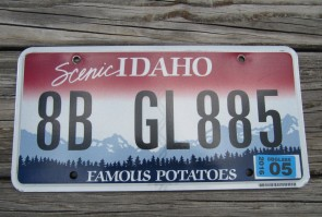 Idaho Scenic Famous Potatoes License Plate 2016