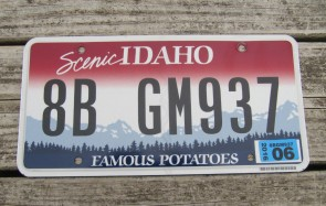 Idaho Scenic Famous Potatoes License Plate 2015
