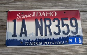 Idaho Scenic Famous Potatoes License Plate 2001 1 ANR 359