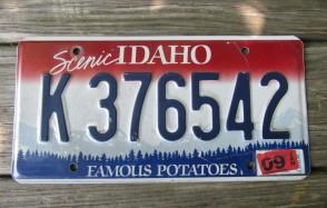 Idaho Scenic Famous Potatoes License Plate 2009