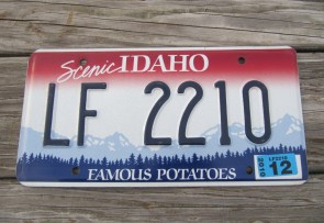 Idaho Scenic Famous Potatoes License Plate 2010