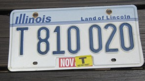 Illinois Motorcycle Land of lincoln License Plate 2013