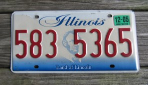 Illinois Land of Lincoln License Plate 2005