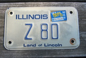 Illinois Land of Lincoln License Plate 1991