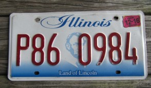 Illinois Land of Lincoln License Plate 2016
