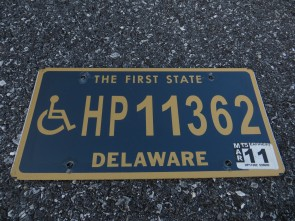 Delaware Disabled Handicapped License Plate 2011 The First State