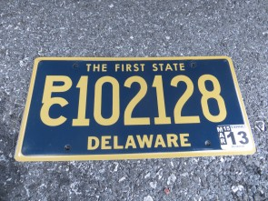 Delaware The First State License Plate 2013