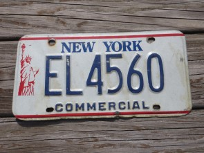 New York Statue of Liberty Commercial License Plate 1990s