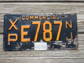 New Jersey Commercial License Plate 1960