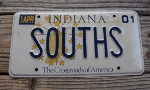 Indiana The Crossroads of America License Plate 2001