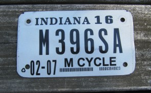 Indiana George Rogers Clark License Plate 1980