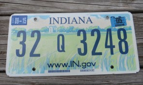 Indiana Farm Scene Website License Plate 2005