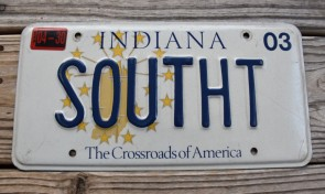 Indiana The Crossroads of America License Plate 2003