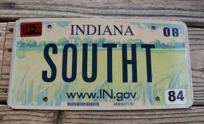 Indiana Farm Scene Website License Plate 2008