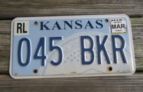 Kansas Seal License Plate 2014 242 AIX