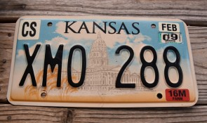 Kansas Capitol License Plate 2009