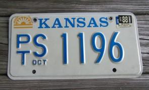 Kansas Seal License Plate 2015 DK County 534 CLM