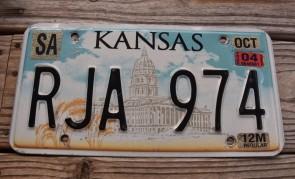 Kansas Capitol License Plate 2004